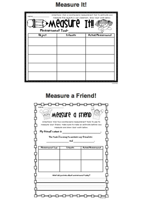 measurement 2nd grade math measurement pinterest activities measurement activities and. Black Bedroom Furniture Sets. Home Design Ideas