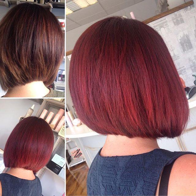 Top 100 mahogany hair color photos Colour change to mahogany red, by Vicki #retreathairandbeautysalon #shorthairstylesforwomen #concavebob #wellacolours #hairinspiration #hair #hairdresser #haircolor #hairofinstagram #mahoganyhaircolor #kevinmurphy