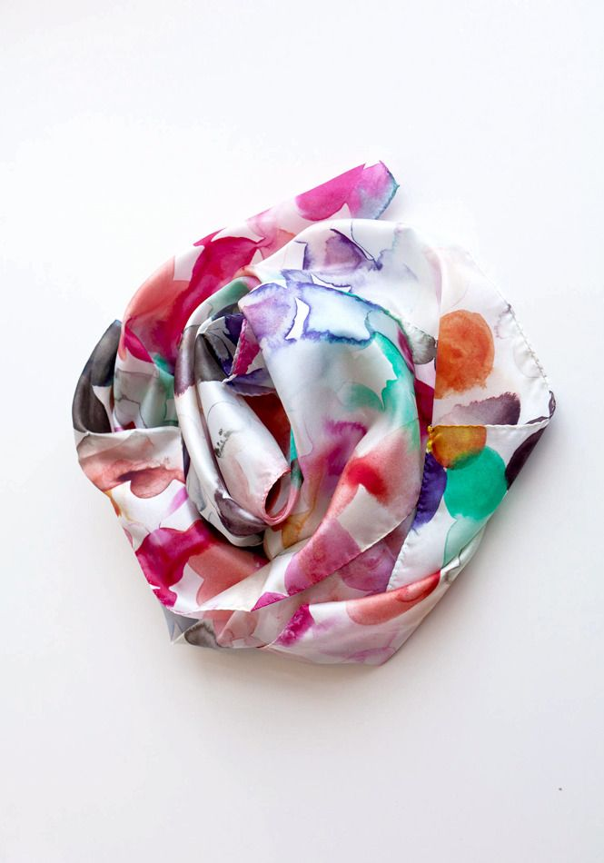 Silk is such a beautiful fabric for summer. This scarf from Emily Green is a stunner.