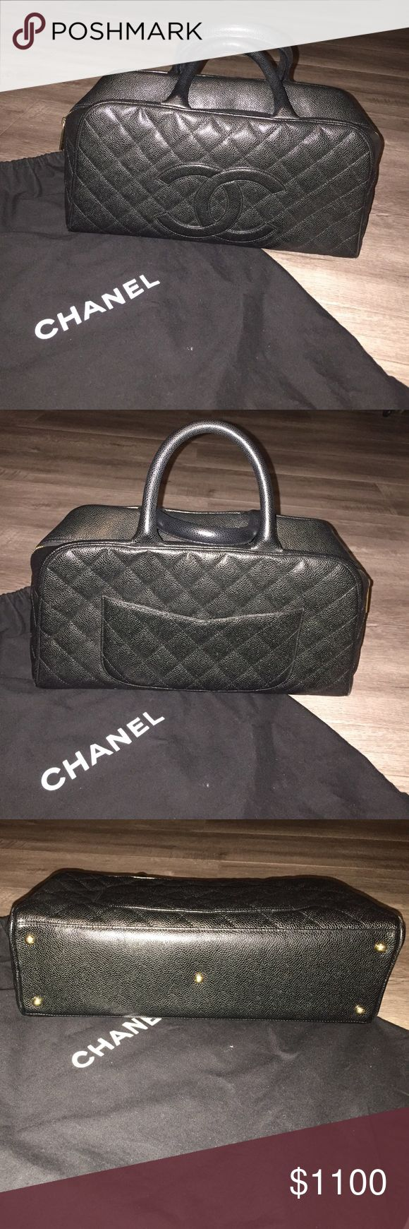 """💯% Authentic Chanel Purse 💯% authentic Chanel purse for sale! In pristine condition. It's been sitting in the closet all these years and has only seen the light of day a few times. There is hardly any wear. Bag comes with authenticity card, which, of course, matches the serial number inside the bag. Comes with dust bag as well. This is a pretty large bag that measures about 14.5"""" W x 5"""" D X 8"""" H. NO TRADES! Price is firm on this app. CHANEL Bags Totes"""