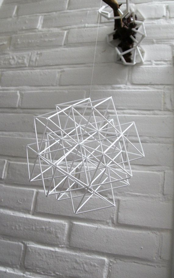 DIAMOND CUBIC Himmeli Modern Hanging Mobile by PrettyMyHome