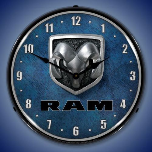 Ram logo Lighted Wall Clock 14 x 14 Inches