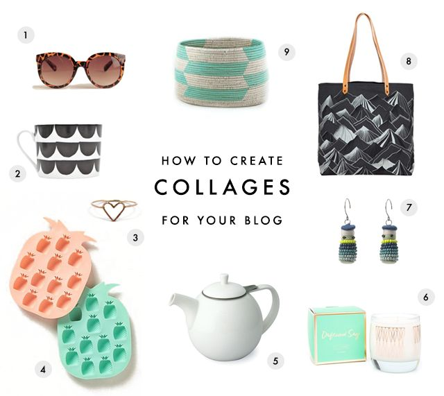 Making Product Collages for your Blog - see the tutorial here: http://earlgreyblog.com/2014/07/making-product-collages-for-your-blog.html
