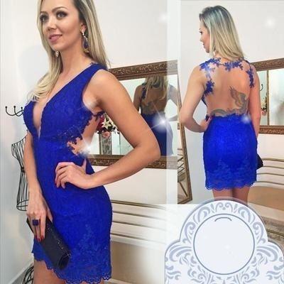 Homecoming Dress,Lace Homecoming Dress,Royal Blue Homecoming Dress,Fitted Homecoming Dress,Short Prom Dress