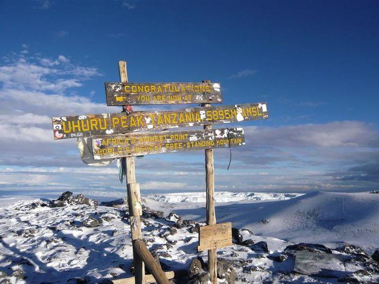 uhuru peak, tanzania; africa's highest point. mt. kilimanjaro