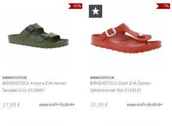 Birkenstock: Sale bei Outlet46 mit Sandalen ab 20,69 Euro frei Haus https://www.discountfan.de/artikel/klamotten_&_schuhe/birkenstock-sale-bei-outlet46-mit-sandalen-ab-2069-euro-frei-haus.php Marken-Sandalen von Birkenstock sind jetzt bei Outlet46 zu Preisen ab 20,69 Euro frei Haus zu haben. Die insgesamt 19 Modelle lassen sich nach Größe, Farbe und Zielgruppe filtern. Birkenstock: Sale bei Outlet46 mit Sandalen ab 20,69 Euro frei Haus (Bild: Outlet46.de) Die Birkenstock-