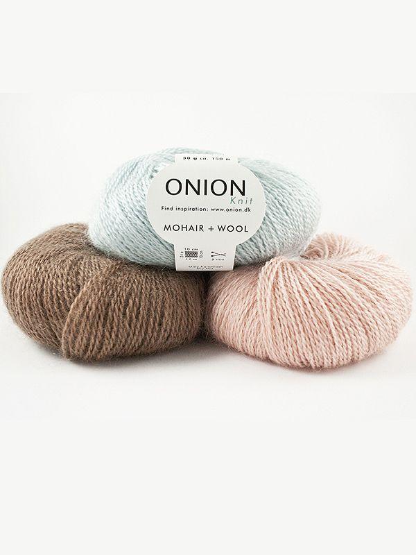 ONION Mohair + Wool, przepiekna mieszanka moheru z wełna w kilkunastu cudnych pastelowych kolorach