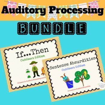 This Auditory Processing Bundle is a great way to target Auditory skills in speech therapy. No printing needed!