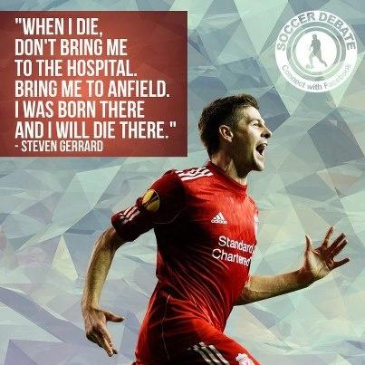 Steven Gerrard. the captain of the Liverpool FC.