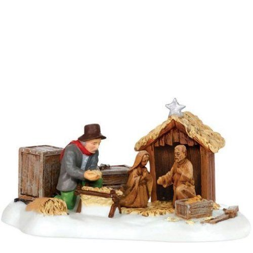 Department 56 New England Village Setting Up The Nativity #NotApplicable