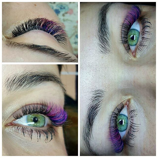 For English scroll down.  Karnawałowa stylizacja Urszuli Pałki ❤️💙💜 ____ Carnival ❤️ application made by our lash trainer Urszula Pałka 😍 #noblelashes #noble #eyelashetension #eyelashes #eye #carnival #application #colour #love