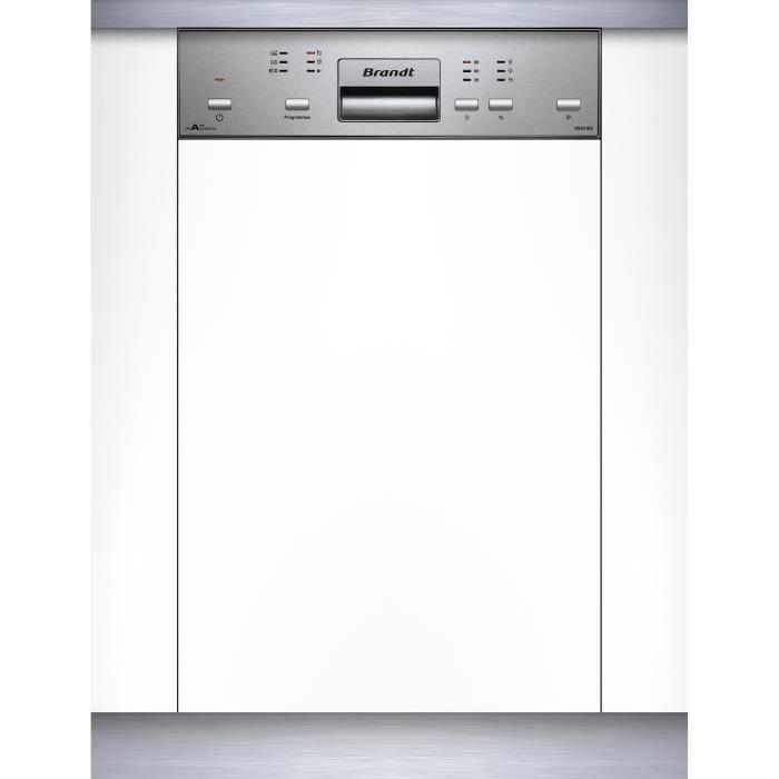 LAVE-VAISSELLE BRANDT VS1010X - Lave-vaisselle 45cm encastrable A++