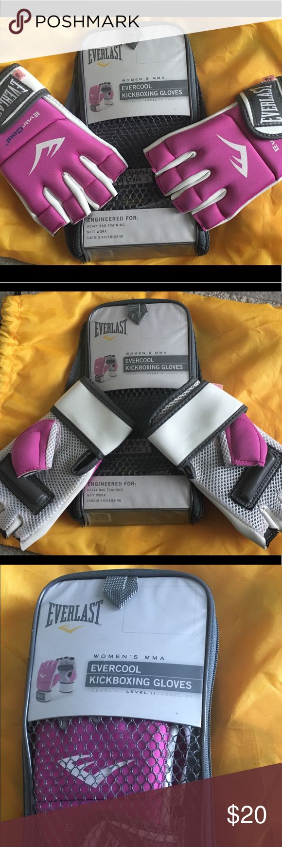 Pink kickboxing gloves Pink ladies kickboxing/  gloves. Used only a few times.  Cute but protective for getting that summer body. 🥊 Accessories