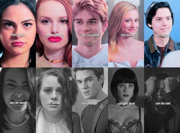 Riverdale: Veronica, Cheryl, Archie, Betty and Jughead