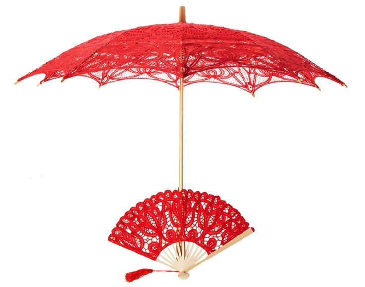red lace fans - Google Search