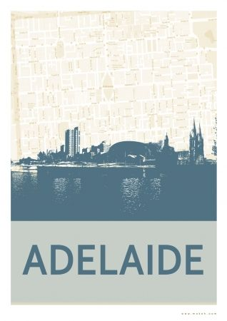 vintage Adelaide poster - via hardtofind • Adelaide's icons