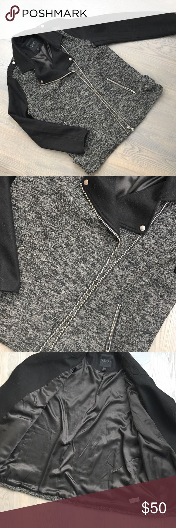 Sale!! 🛍 Stitchfix Moto Cocoon Coat Worn twice; like new! Wool blend Moto style cocoon coat from Stitch Fix.  Warm and cozy! Slight cocoon shape, so fit is generous in body. Stitch Fix Jackets & Coats