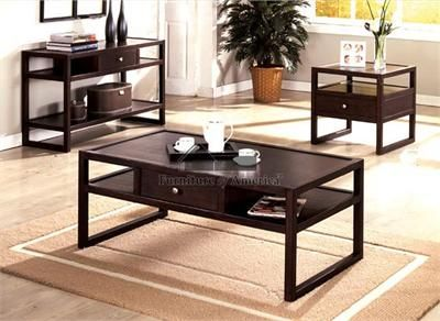 Siana Espresso Coffee Table W/ Storage Drawer