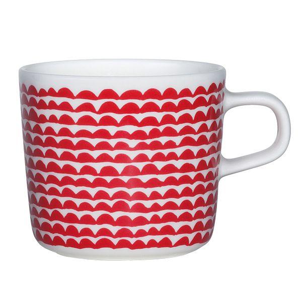 Oiva - Papajo glogg cup, 2,0 dl, red, by Marimekko.