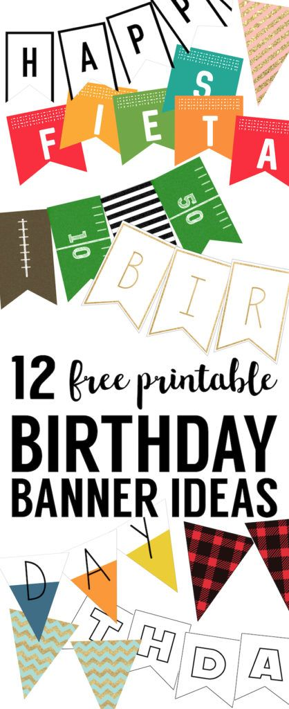 Free Printable Birthday Banner Ideas. Easy DIY printable birthday banners for a kids birthday or adult birthday. Easy birthday decor ideas.