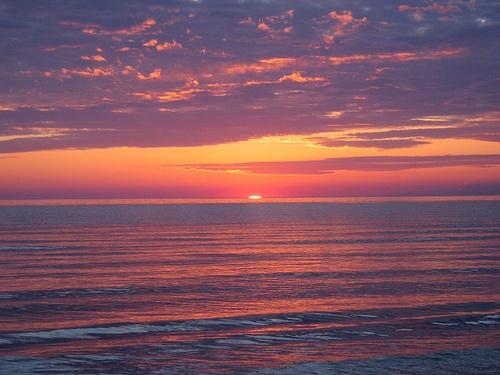 Sauble Beach at sunset