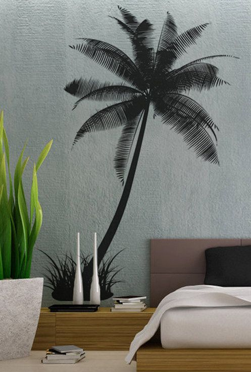 Palm Tree 2 - uBer Decals Wall Decal Vinyl Decor Art Sticker Removable Mural Modern A233