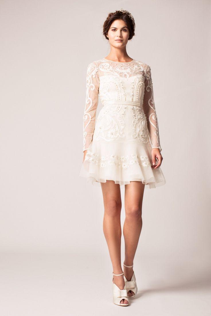 618 best images about short wedding dresses reception for Long dress for wedding reception