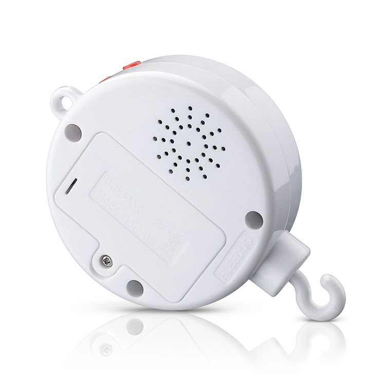 Coutlet Battery-operated Musical Baby Mobile Music Box with 128M Micro SD Card that Plays 12 Tunes