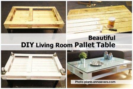 Beautiful DIY Living Room Pallet Table