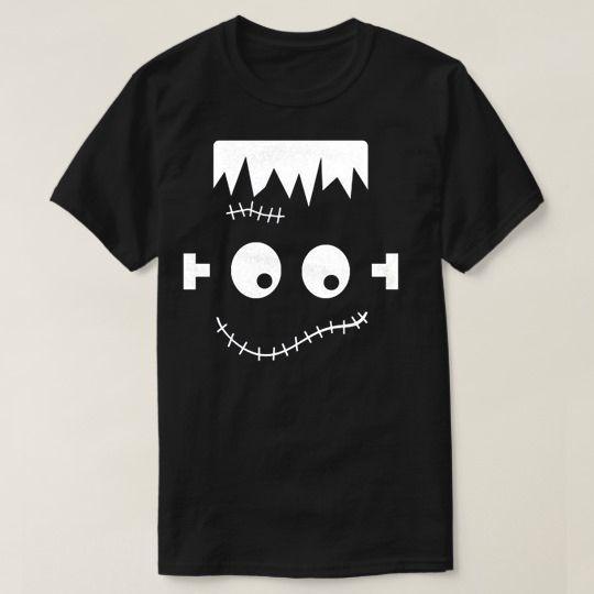 Halloween Frankenstein Face Custom Shirts