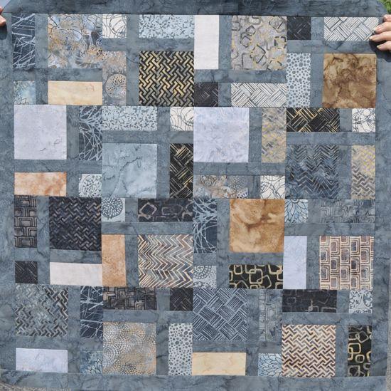 windowpane 9 patch- (Missouri star pattern).  love the batik colors..