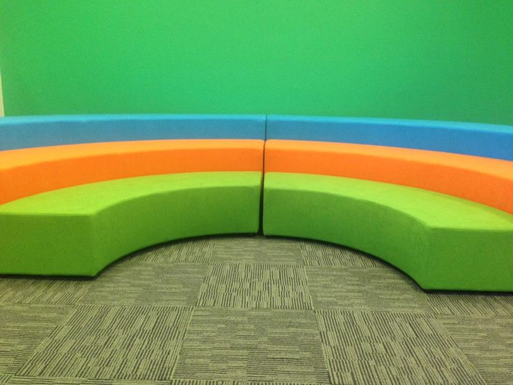 Rainbow seating from NorvaNivel for class instruction.