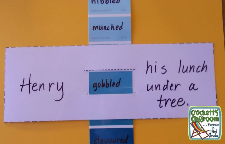 Shades of meaning for a writing lesson--Crockett's Classroom