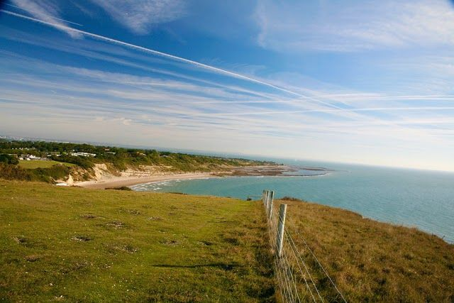 Lovely beach views.  Whitecliff Bay Holiday Park   https://www.campsitechatter.com/campsites/pinboard/Woolacombe-Sands-Holiday-Park/5779562952439790689