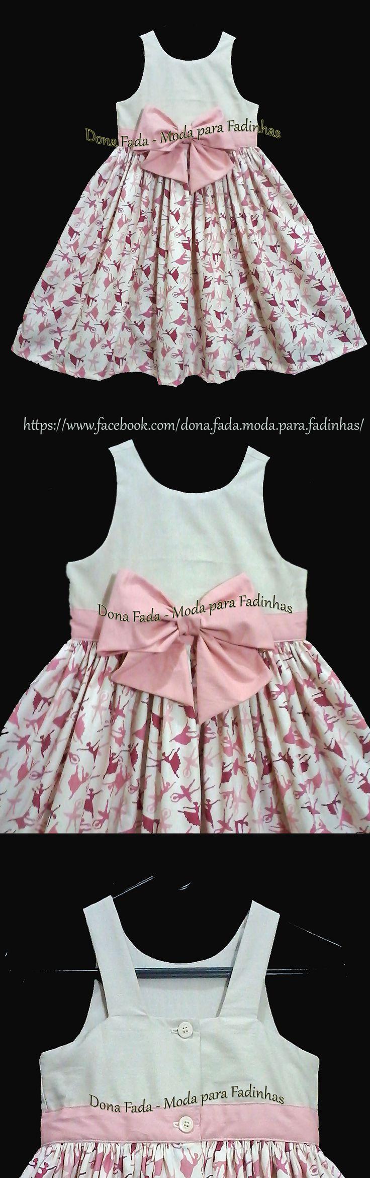 Vestido bailarinas 5 - 6 anos - - - - - baby - infant - toddler - kids - clothes for girls - - - https://www.facebook.com/dona.fada.moda.para.fadinhas/