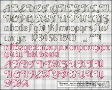 Вышивка алфавит фото