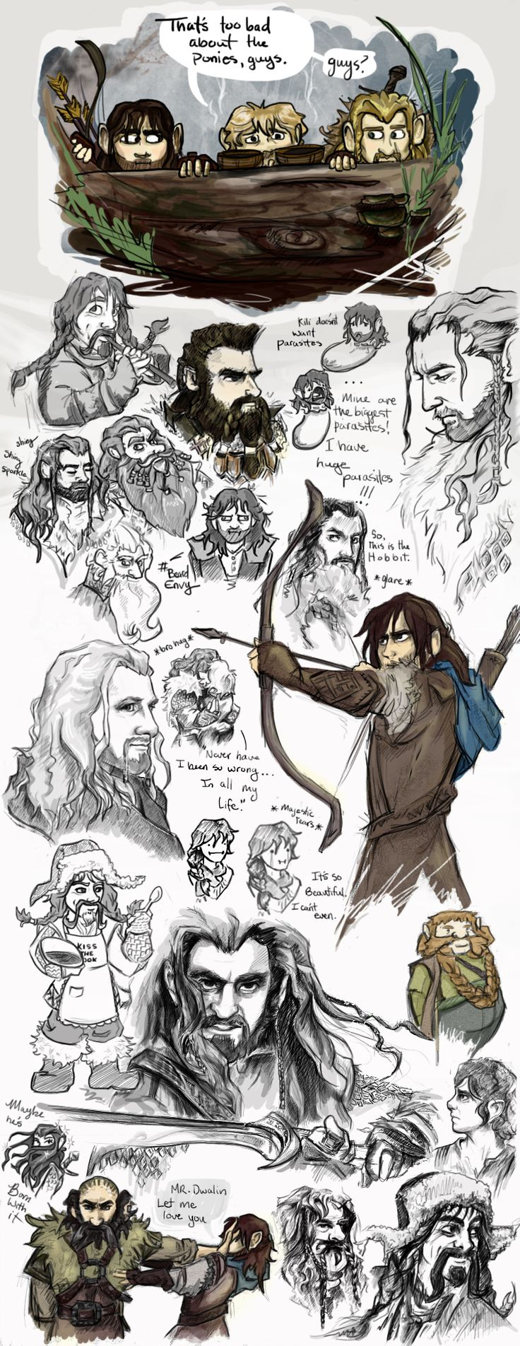 The Hobbit by *TheDandyDragon on deviantART<-- I love how some of them are serious and majestic, and then there's the funny weird ones