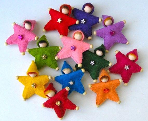 Fieltro estrella Pin para órdenes de encargo