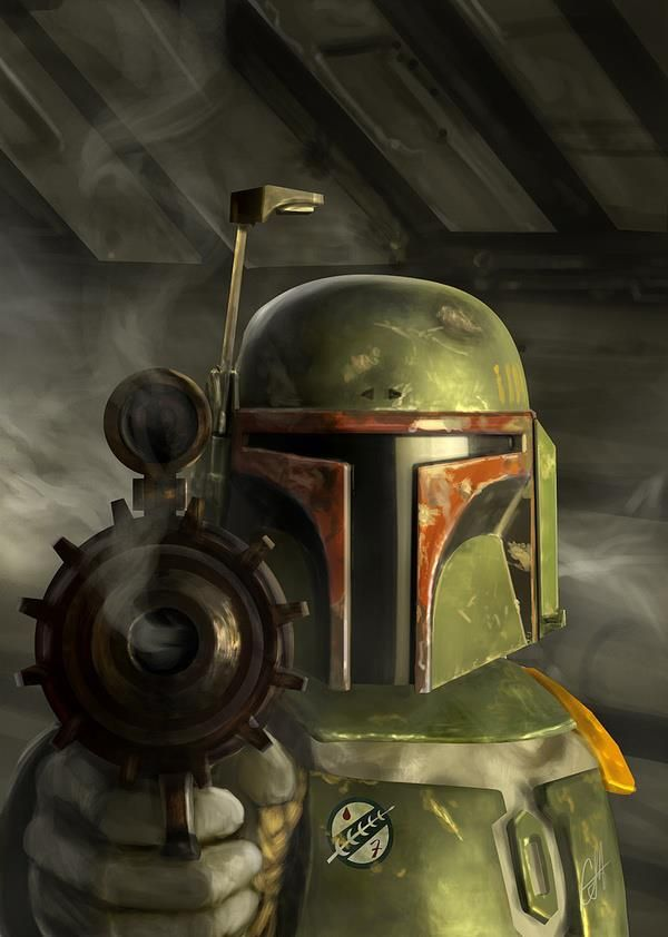More awesome Boba Fett fan art.  You can't pin too much!