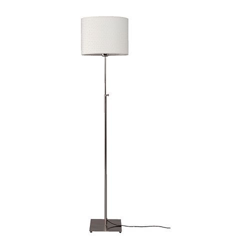 ALÄNG Floor lamp - nickel plated/white - IKEA gray or white? one on each side of bed by night stand?