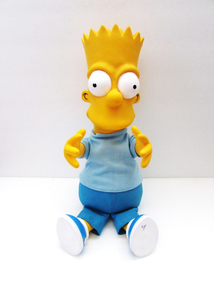 """The Simpsons Bart Simpson Toy Doll Talking Pull String Large 18"""" Dan Dee 1990 Matt Groening by TimelessToyBox on Etsy"""