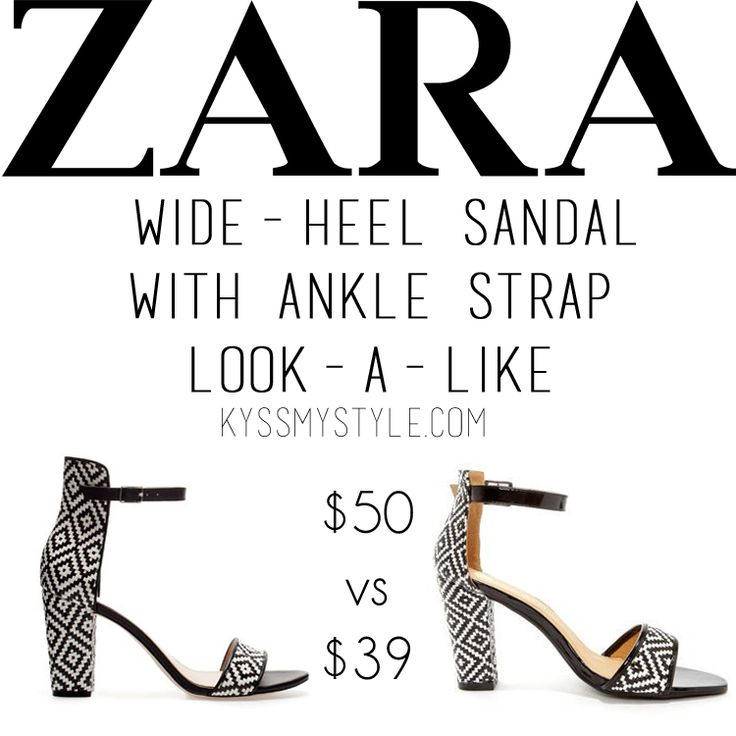 Cheap Vs Cheaper | Zara Wide-Heel Sandal With Ankle Strap Look a