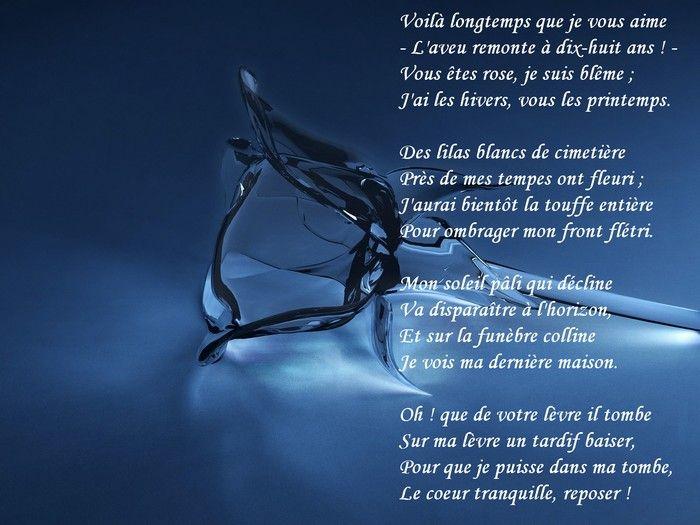 Dernier Vœu Poème Damour Célèbre De Théophile Gautier Voilà