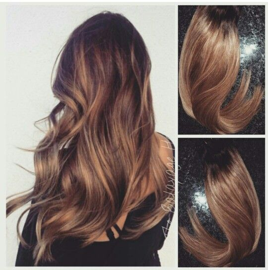 BEAUTIFUL HONEY Brown balayage from the Balayage Hair Extension Company.  For ordering, info@balayagehairextensions.com or www.balayagehairextensioms.com.