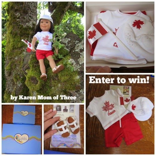 Karen Mom of Three's Craft Blog: Maplelea Canada Day Outfit Give Away!