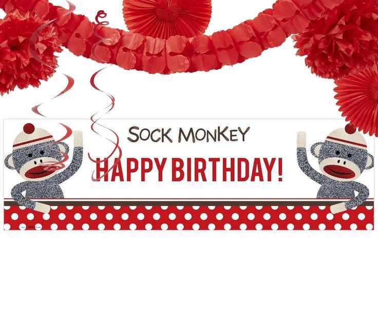 Sock Monkey Decor Kit