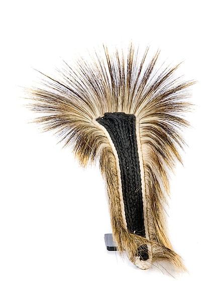 sioux hair roach made of porcupine guard hairs