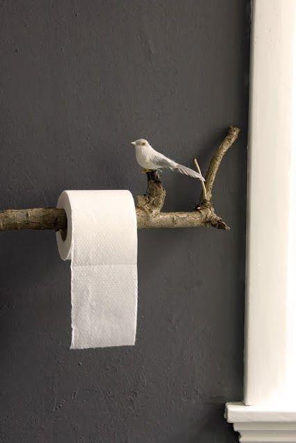 A branch for the toilet paper to hang on ähnliche tolle Projekte und Ideen wie im Bild vorgestellt findest du auch in unserem Magazin