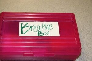 Put together a container of items a child can use to practice deep breathing when they're feeling anxious
