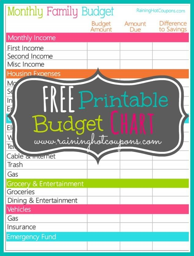 9 best Printables images on Pinterest Free printables, Printables - bill organizer chart